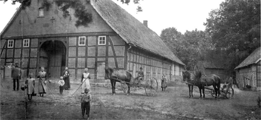 Oude boerenhoeve in het Emsland // Alte Bauernhof im Emsland ((c) Lensing & Robben 2019))